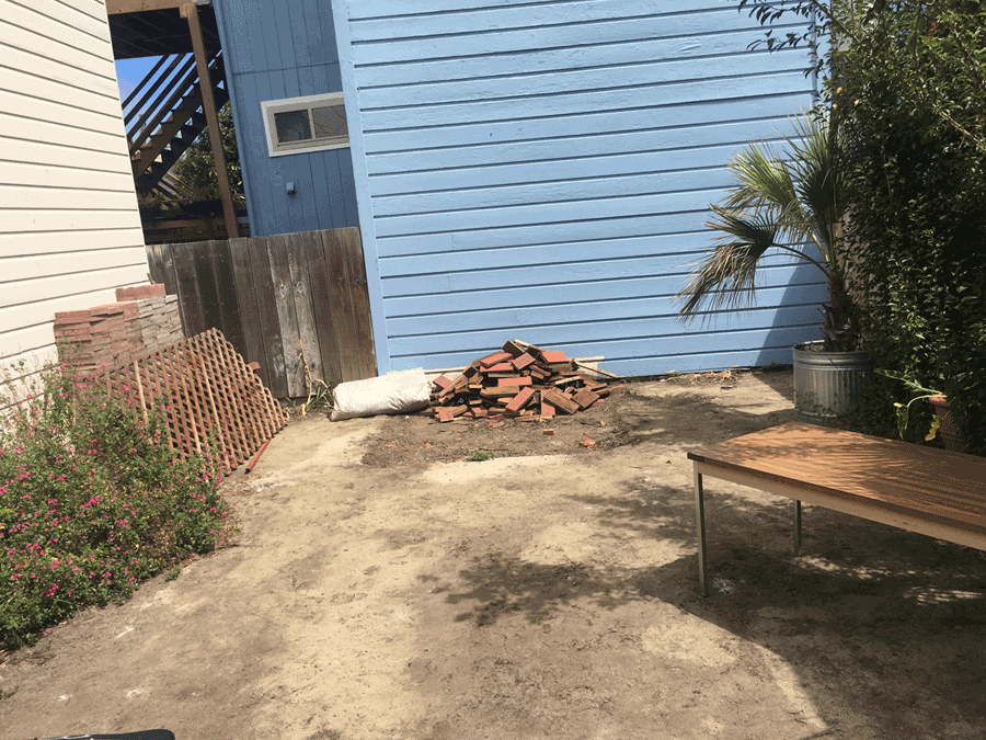 Our Vision Of Creating A Cool Little Outdoor Arts Venue In Our Courtyard Is  Moving Along Nicely, With Construction Officially Underway.